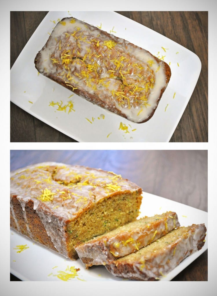 Ginger Zucchini Bread with Lemon Glaze | OfBatterAndDough.com