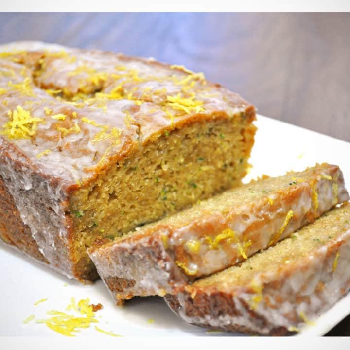 Lemon Ginger Zucchini Bread recipe   OfBatterAndDough.com