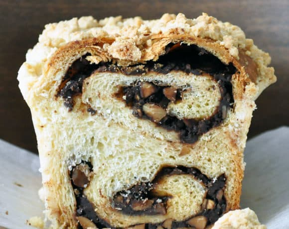 Chocolate Almond Babka | ofbatteranddough.com