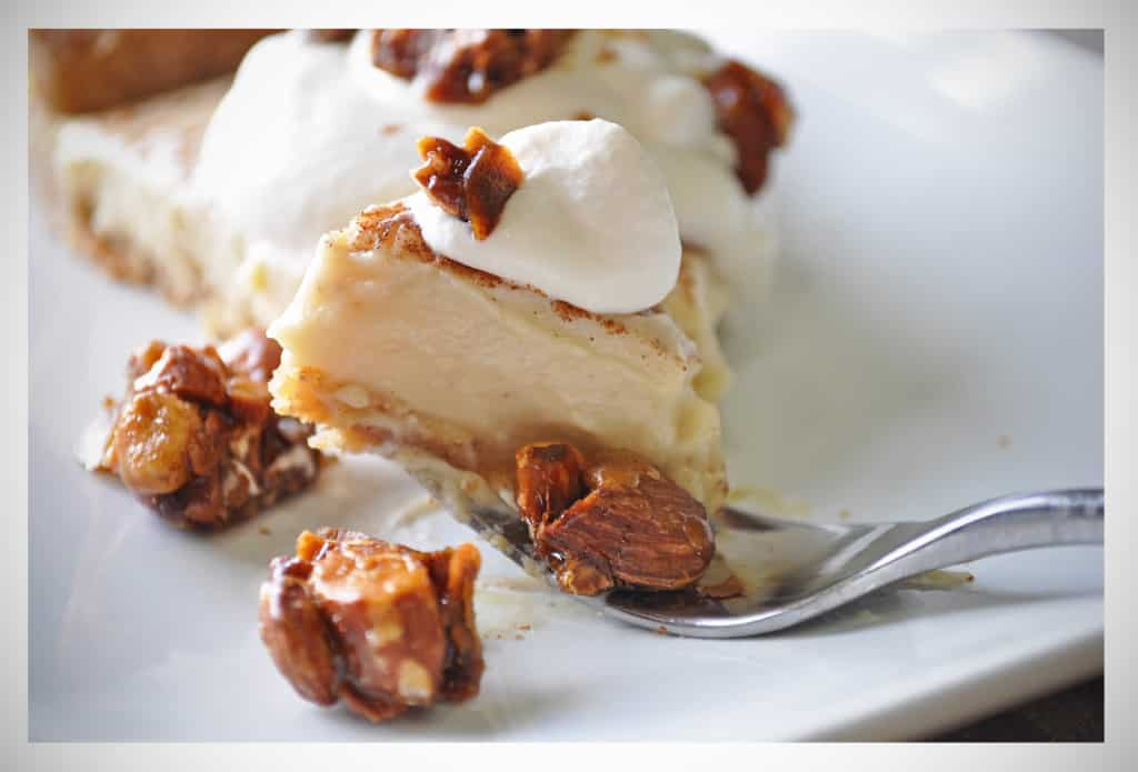 Thanksgiving Pies | Rum Custard Tart with Almond Pralines