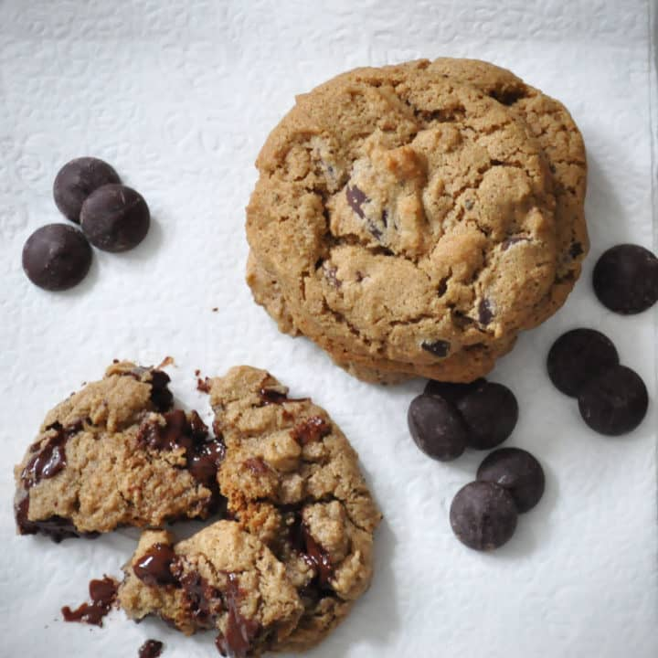 Gluten Free Chocolate Chip Ginger Cookies