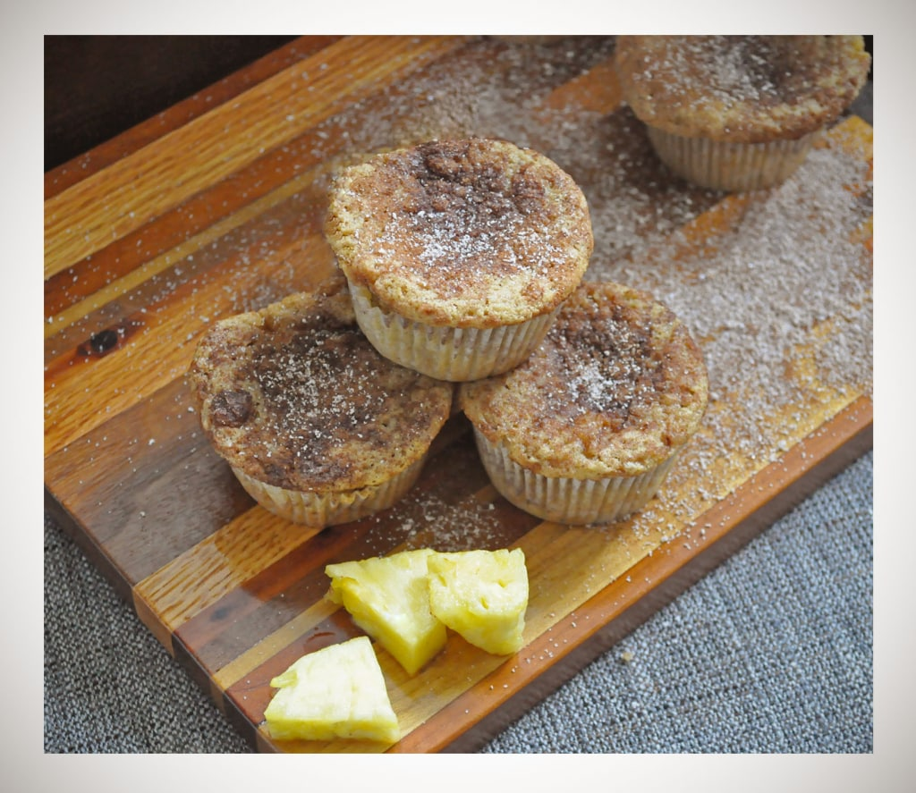 Gluten Free Low Sugar Pineapple Muffins