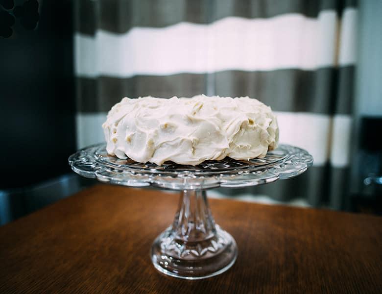 Homemade Carrot Cake recipe | ofbatteranddough.com