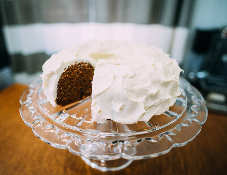 Recipe for Carrot Cake | ofbatteranddough.com