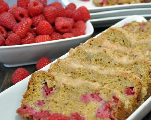 Raspberry Lemon Quick Bread | ofbatteranddough.com