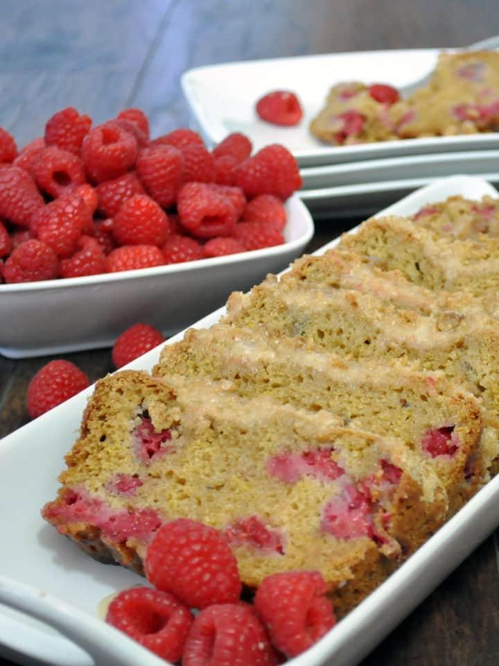 Raspberry Lemon Quick Bread | ofbatteranddough.com
