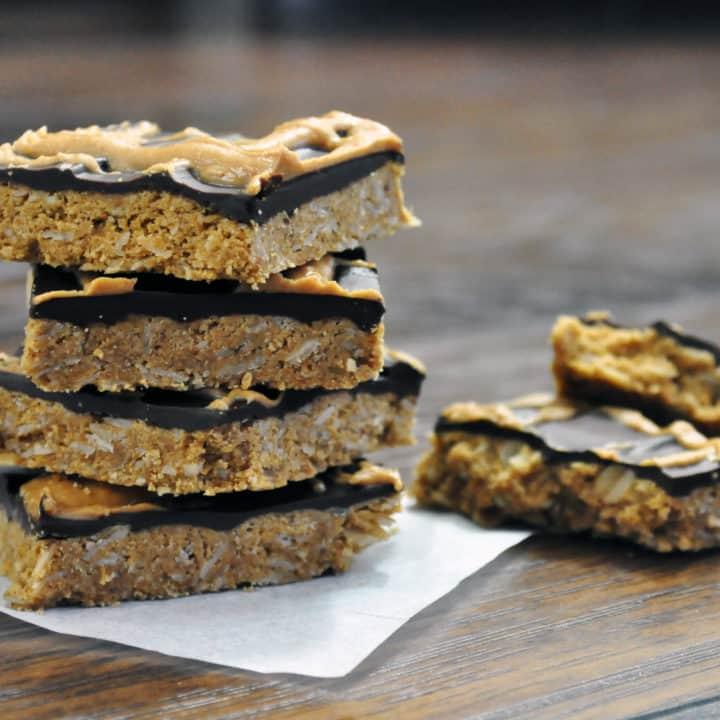 Chocolate Peanut Butter Bars, Gluten Free