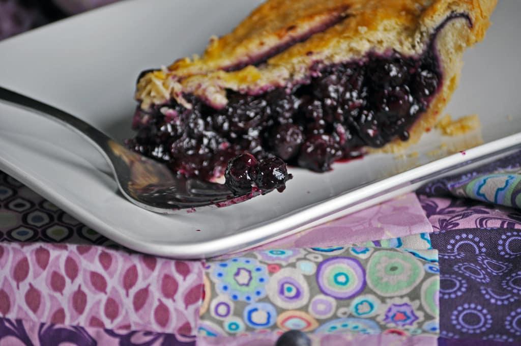 Blueberry pieHomemade Fresh Blueberry pie