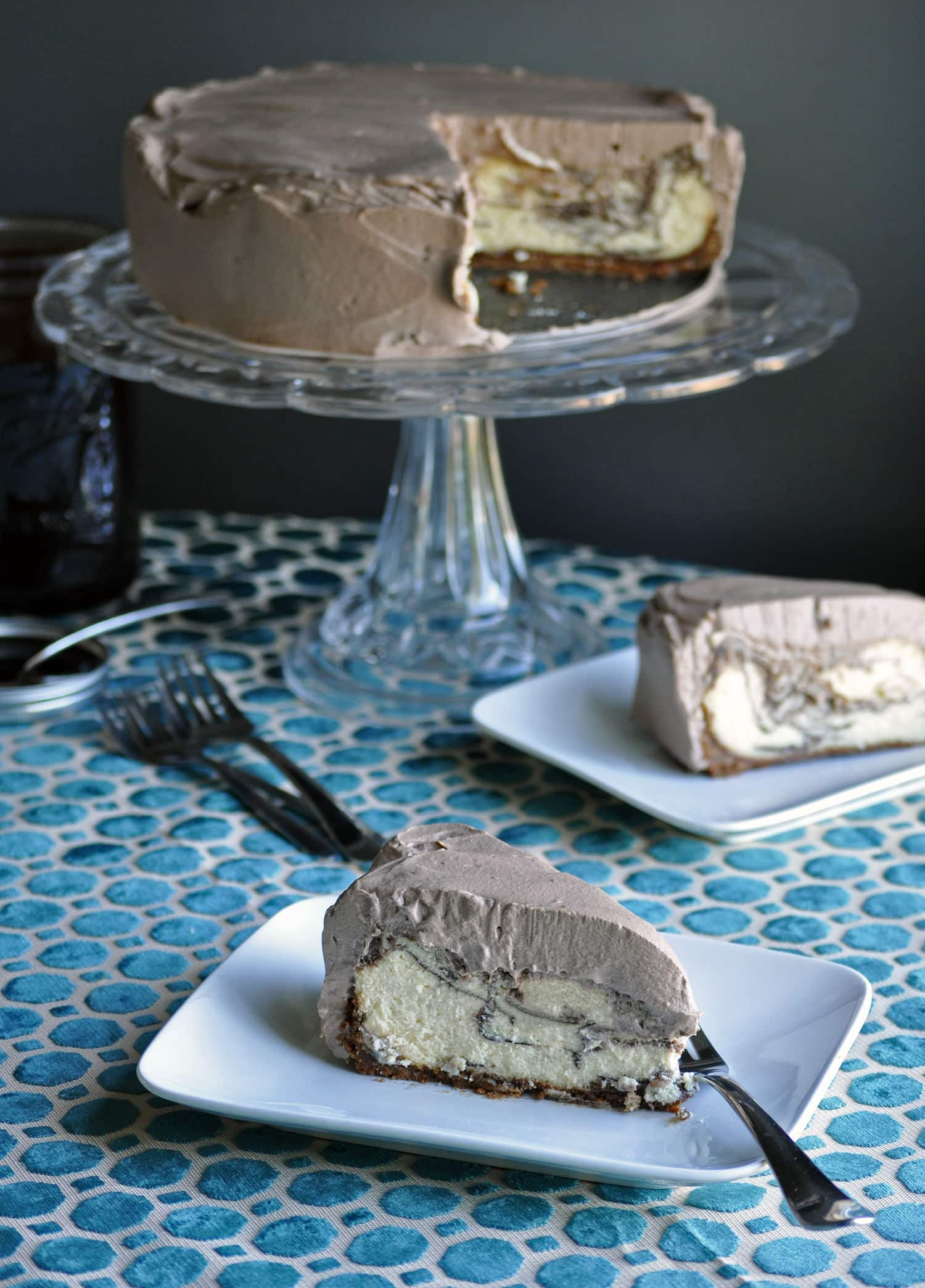Marble Chocolate Cheesecake • cakes | OfBatter&Dough