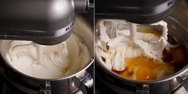 Mixing the batter for Black and White Cookies.