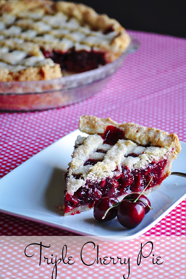 A slice of Triple Cherry Pie