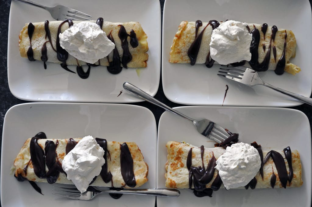 Ice Cream Sundae Crepes Recipe
