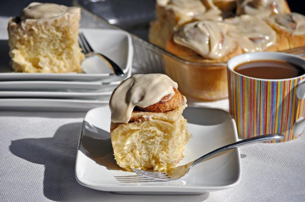 Overnight Homemade Cinnamon Roll Recipe | OfBatterAndDough.com