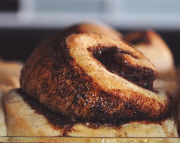 Overnight Homemade Cinnamon Roll Recipe | ofbatteranddough.com