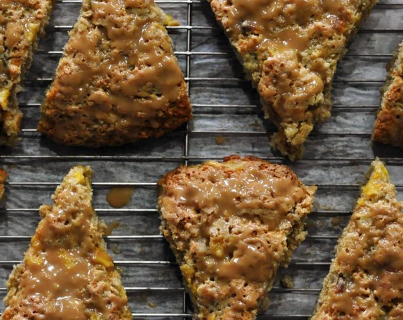 Brown Sugar Peach Scones