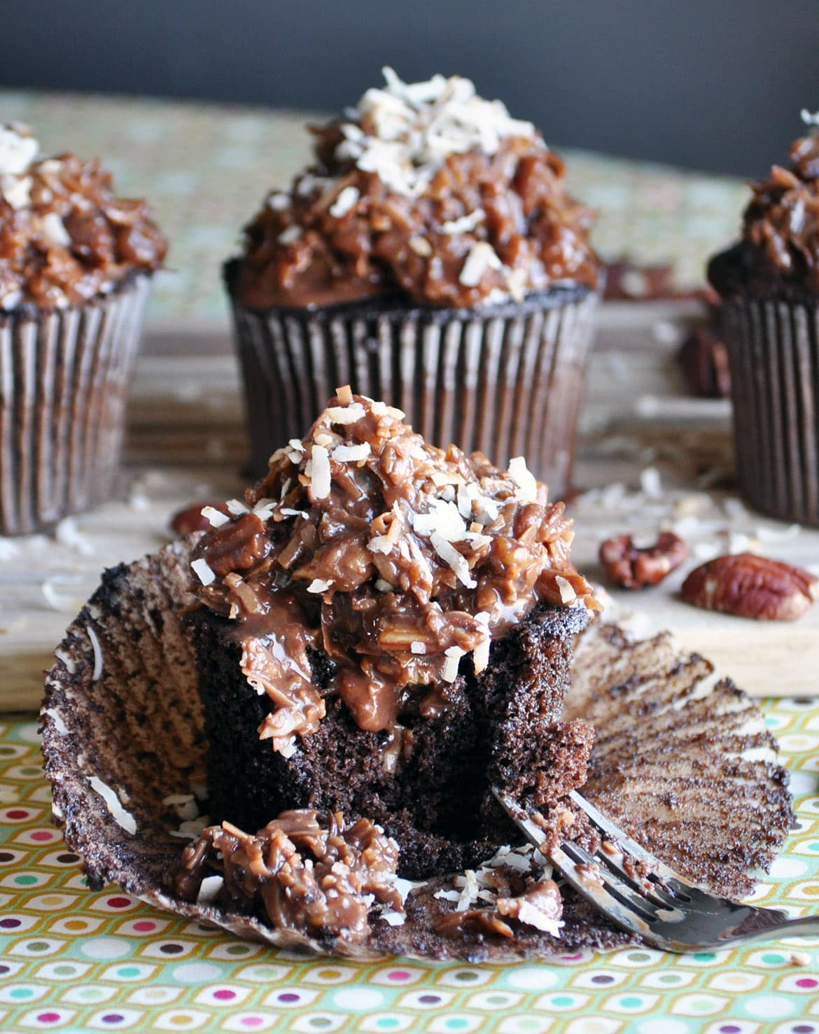German Chocolate Cake With Roasted Pecans