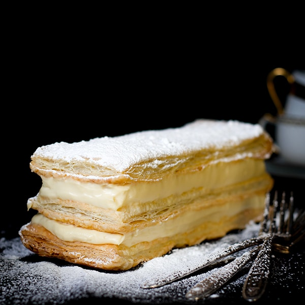 Classic French Napoleon filled with Perfect Vanilla Pastry Cream