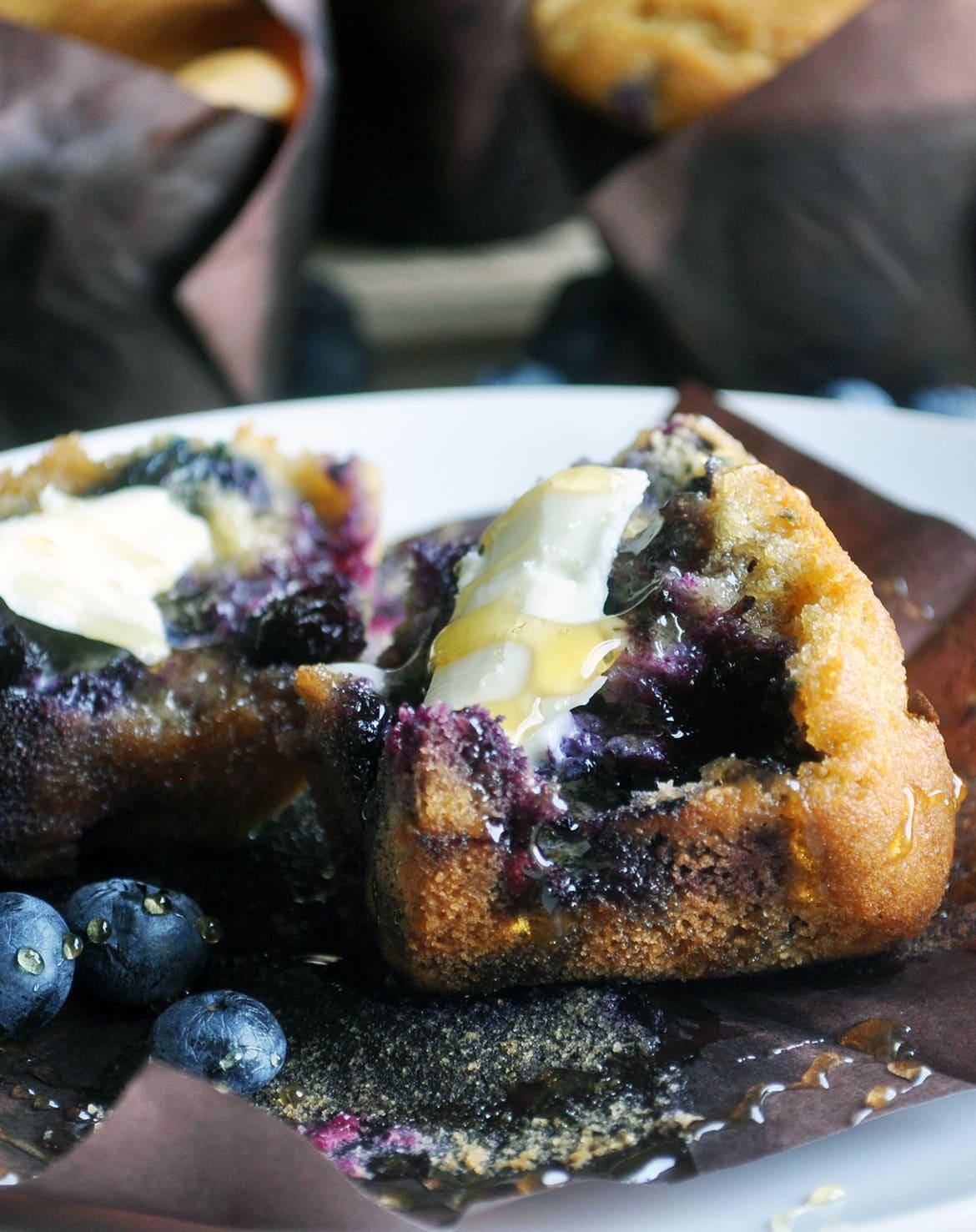 Blueberry Corn Muffins • Muffins   OfBatter&Dough