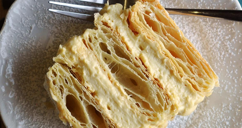 Napoleon Dessert Recipe French Pastry Mille Feuille Cream Pastry | ofbatteranddough.com