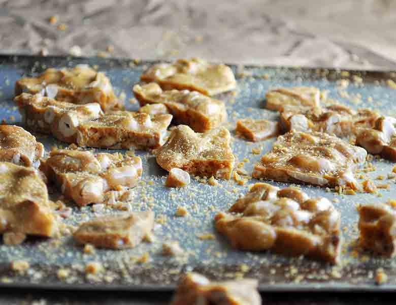 Peanut Brittle Recipe | ofbatteranddough.com