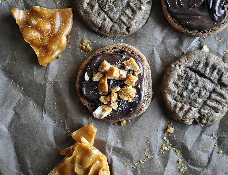 Peanut Brittle Recipe | peanut butter Nutella cookies | ofbatteranddough.com