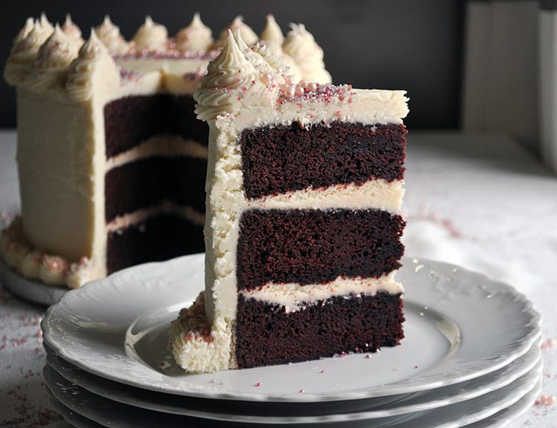 Red Velvet Cake Recipe with Cream Cheese Buttercream Frosting