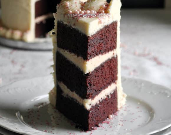 Red Velvet Cake Recipe | Triple Layer with Cream Cheese Buttercream