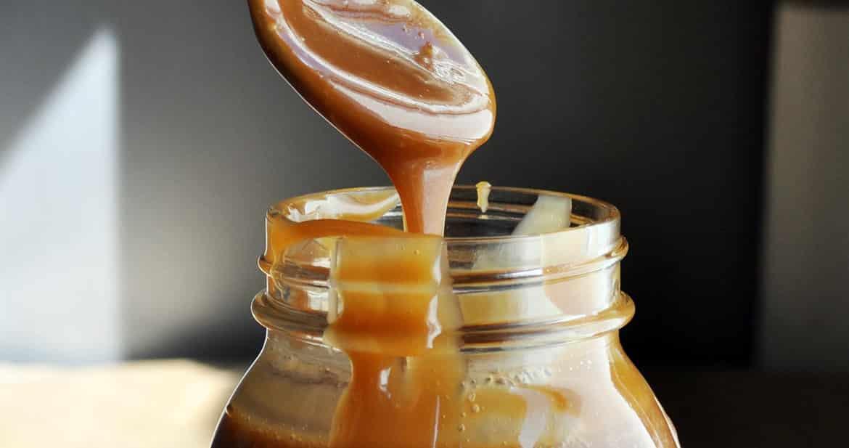 Homemade Salted Caramel Sauce Recipe | ofbatteranddough.com