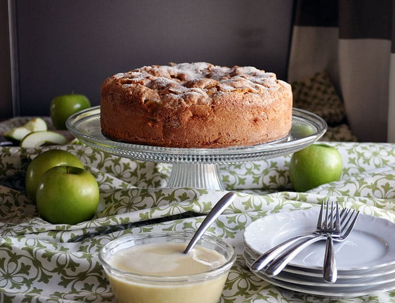 Irish Apple Cake Apple Cake With Custard Sauce Batter