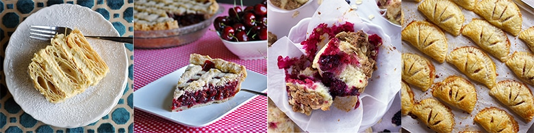 More delicious recipes: Napoleon Dessert, Triple Cherry Pie, Mixed Berry Muffins with Brown Sugar Streusel,Apple Butter and Pastry Cream Hand Pies