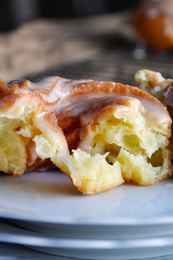 The inside of a Homemade, French Cruller