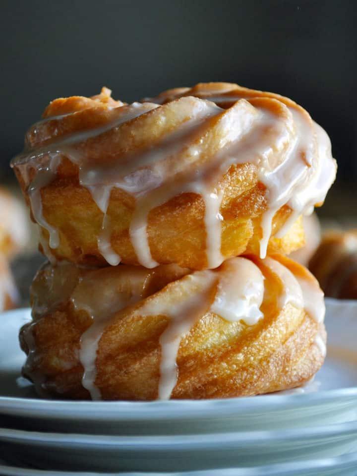 French Cruller Doughnut Recipe | ofbatteranddough.com