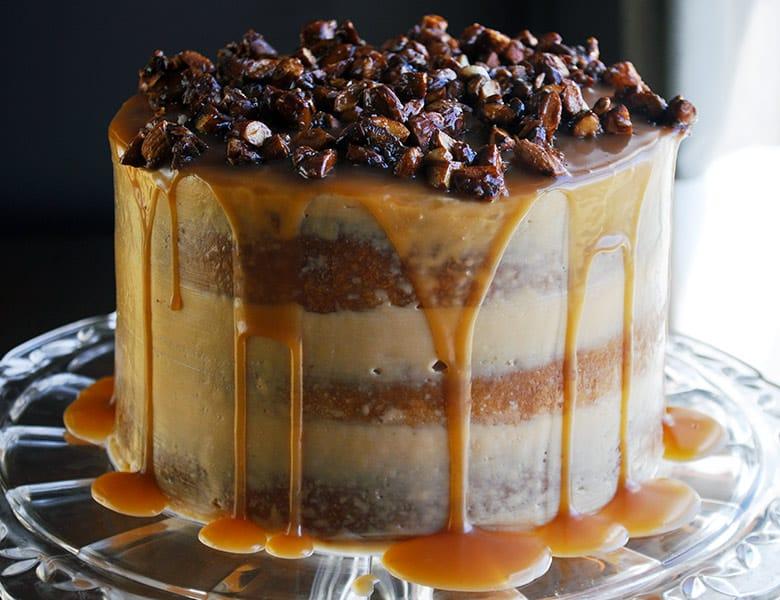 Gluten Free Birthday Cake Caramel Cake With Salted Caramel Italian