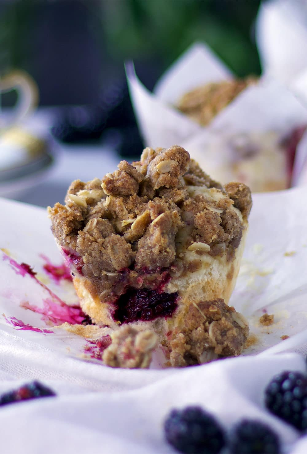 Mixed Berry Muffins with Brown Sugar Streusel