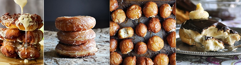 More popular recipes: Overnight Apple Fritters, Overnight Homemade Glazed Doughnuts, Salted Caramel Doughnut Holes, Chocolate Eclairs