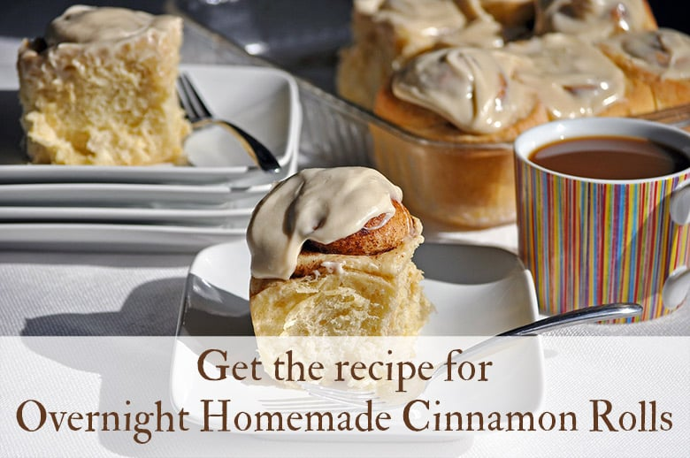 Overnight Homemade Cinnamon Rolls | ofbatteranddough.com