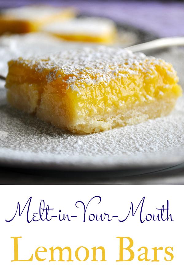 The best melt in your mouth lemon bars.