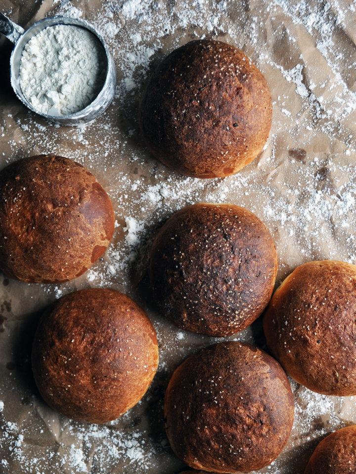 Potato Hamburger Buns | Potato Rolls | ofbatteranddough.com