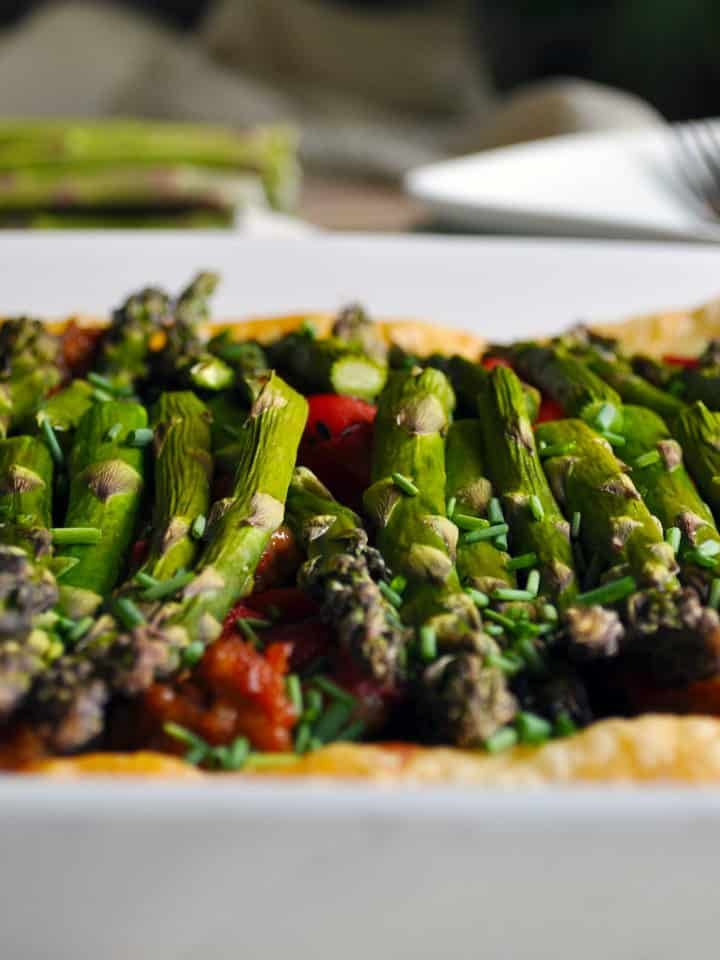 Savory Tart Recipe with Sausage and Vegetables | ofbatteranddough.com