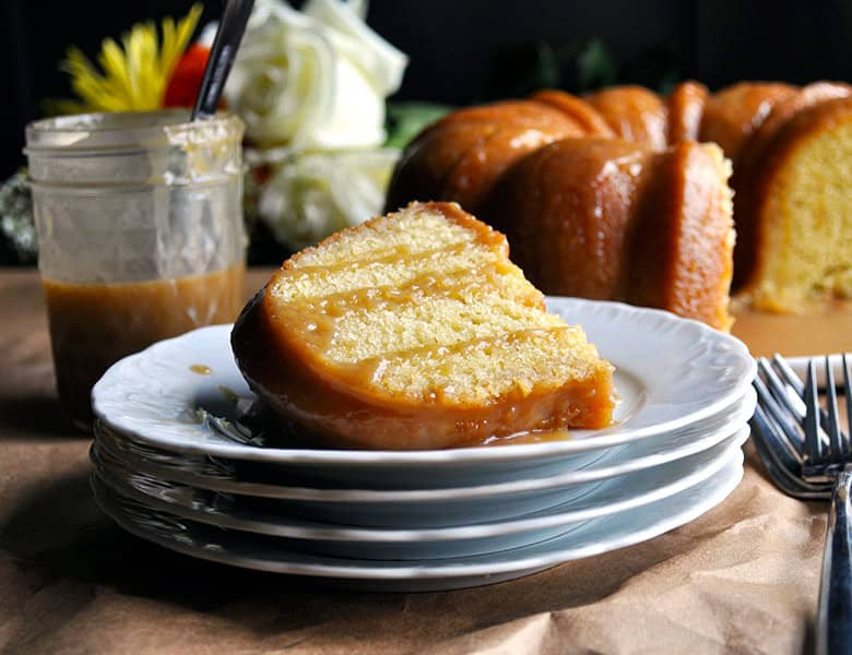 Butterscotch bundt cake recipe | ofbatteranddough.com