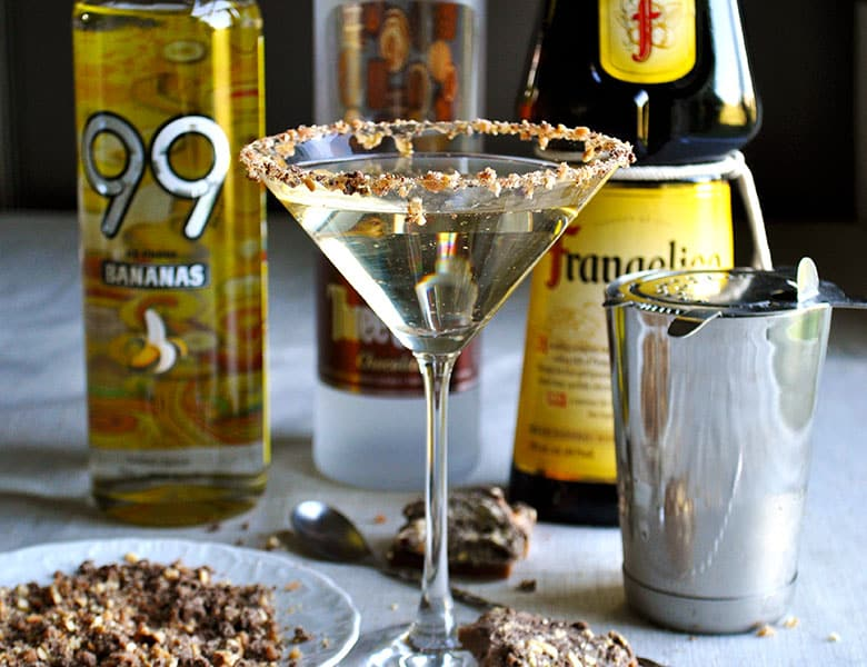 Nutella Banana Martini | toffeetini | Martini Party | ofbatteranddough.com