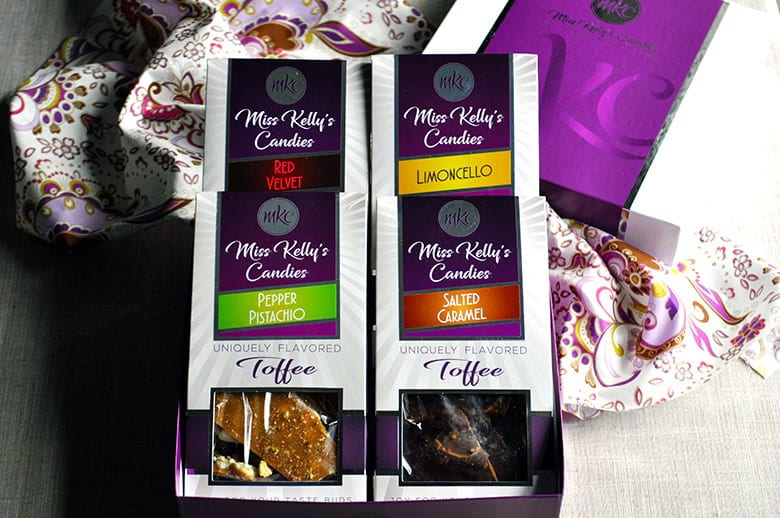 Toffee Giveaway | Miss Kelly's Candies | ofbatteranddough.com
