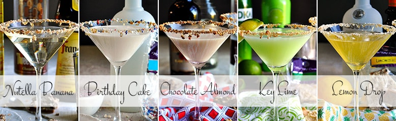 Five Martini Recipes | Martini Party | Toffeetini