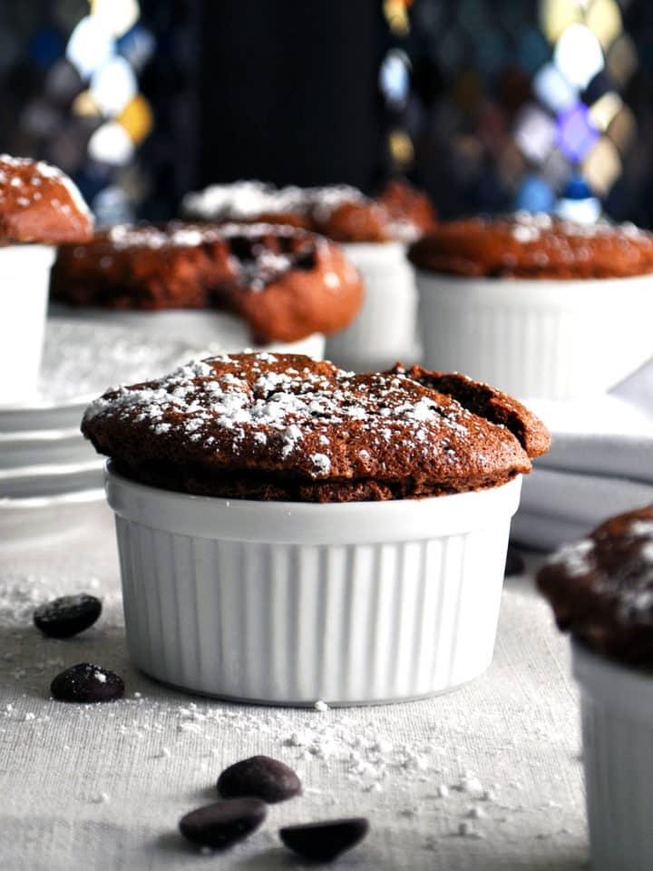 Individual Chocolate Souffle | ofbatteranddough.com