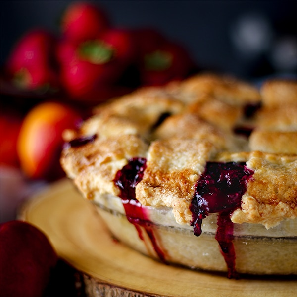 A Mixed Berry Plum Pie.