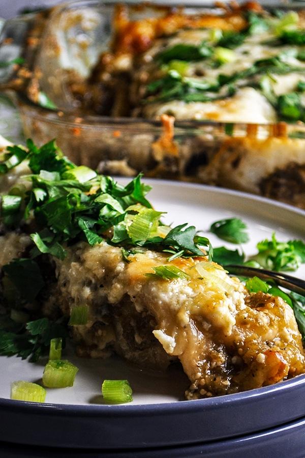 Enchiladas Verdes (Green Enchiladas)