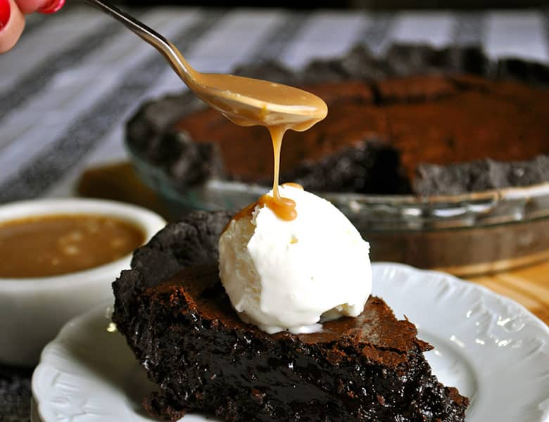 Brownie Pie | ofbatteranddough.com