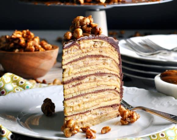 Banana Split Crepe Cake
