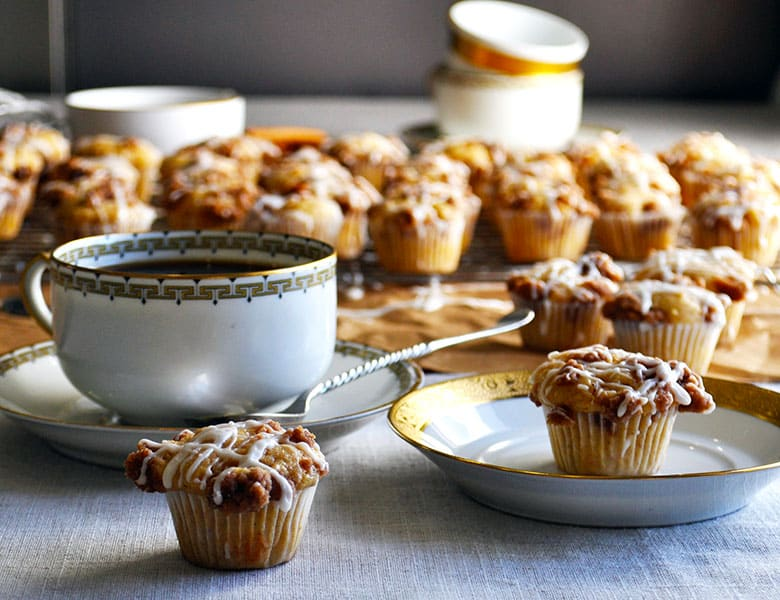 Cinnamon Streusel Mini-Muffins | ofbatteranddough.com