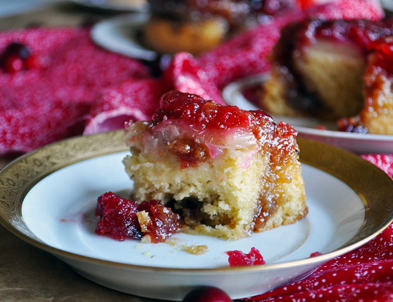 Individual Cranberry Pineapple Upside Down Cakes